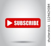 subscribe button icon. vector... | Shutterstock .eps vector #1124624384