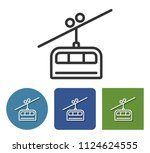 cable railway line icon in... | Shutterstock . vector #1124624555