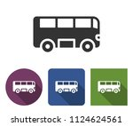 bus icon in different variants... | Shutterstock . vector #1124624561