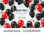 black friday sale poster with... | Shutterstock .eps vector #1124630444