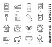 set of 16 icons such as ninja ...
