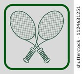 tennis flat modern icon of... | Shutterstock .eps vector #1124631251