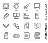 set of 16 icons such as laundry ...