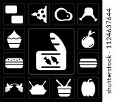 set of 13 simple editable icons ... | Shutterstock .eps vector #1124637644