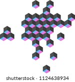 unreal shapes  vector | Shutterstock .eps vector #1124638934