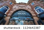 leeds  uk   june 26  2018 ... | Shutterstock . vector #1124642387