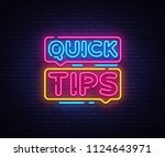 quick tips neon sign design... | Shutterstock . vector #1124643971