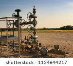 oil and gas facilities | Shutterstock . vector #1124644217