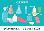 concept cleaning service  ... | Shutterstock .eps vector #1124645135