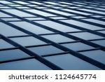 sky visible through glass...   Shutterstock . vector #1124645774