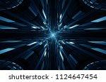abstract digital science...   Shutterstock . vector #1124647454
