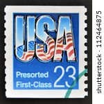 Small photo of UNITED STATES OF AMERICA - CIRCA 1991: A stamp printed in USA shows USA presort coil, circa 1991