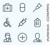 medicine icons line style set...   Shutterstock .eps vector #1124649041