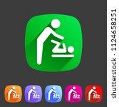 baby mother care room symbol... | Shutterstock .eps vector #1124658251