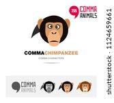 chimpanzee ape animal concept... | Shutterstock .eps vector #1124659661
