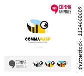 wasp animal concept icon set... | Shutterstock .eps vector #1124660609
