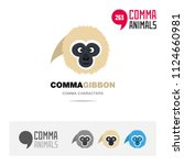 gibbon ape animal concept icon... | Shutterstock .eps vector #1124660981