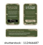 a set of green vector vintage... | Shutterstock .eps vector #112466687