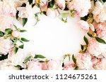 frame made of beautiful pink... | Shutterstock . vector #1124675261