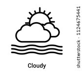 cloudy icon vector isolated on... | Shutterstock .eps vector #1124675441
