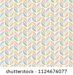 decorative tulip seamless...   Shutterstock .eps vector #1124676077