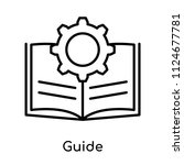 guide icon vector isolated on...   Shutterstock .eps vector #1124677781