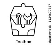 toolbox icon vector isolated on ... | Shutterstock .eps vector #1124677937