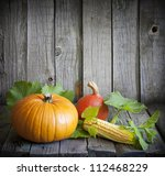 Autumn And Pumpkins Vintage...