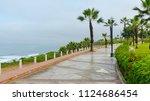 lima  peru  park in miraflores... | Shutterstock . vector #1124686454