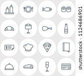 vector illustration of 16... | Shutterstock .eps vector #1124686901
