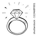 diamond shine hand drawn   Shutterstock .eps vector #1124689301