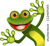 Illustration  Merry Green Frog...