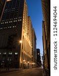 loop downtown city street night ... | Shutterstock . vector #1124694044