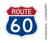 us route 60 sign shield sign... | Shutterstock .eps vector #1124696297