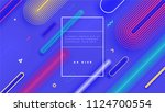 geometric abstract background... | Shutterstock .eps vector #1124700554