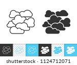 overcast black linear and... | Shutterstock .eps vector #1124712071