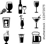drinks icons | Shutterstock .eps vector #112472075
