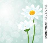 chamomile flower in gray... | Shutterstock .eps vector #112472711