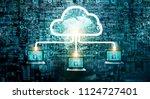 cloud computing diagram network ... | Shutterstock . vector #1124727401