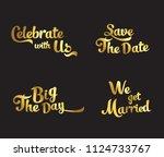 wedding typography vector... | Shutterstock .eps vector #1124733767