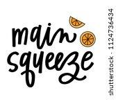 main squeeze oranges | Shutterstock .eps vector #1124736434