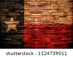texas flag bricks wall | Shutterstock . vector #1124739011