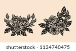 rose vector lace by hand... | Shutterstock .eps vector #1124740475