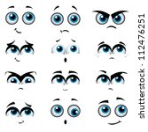 cartoon faces with various... | Shutterstock . vector #112476251