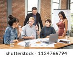 group of diverse business...   Shutterstock . vector #1124766794