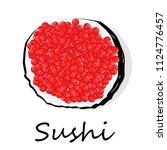 sushi illustration on a white... | Shutterstock . vector #1124776457