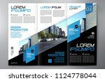 business brochure. flyer design.... | Shutterstock .eps vector #1124778044
