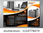 business brochure. flyer design.... | Shutterstock .eps vector #1124778074
