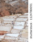 salt ponds  near cusco  peru | Shutterstock . vector #1124780051
