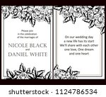 invitation with floral... | Shutterstock .eps vector #1124786534